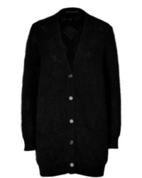 Ermanno Scervino Angora Cotton Maxi Cardigan