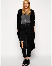 Collection longline cardigan in fluffy yarn medium 351267