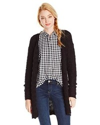 Eric Lani Juniors Striped Boucle Knit Cardigan