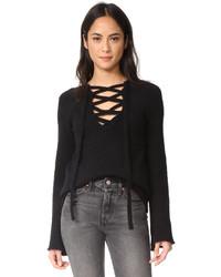 Candela lace up sweater medium 5259356