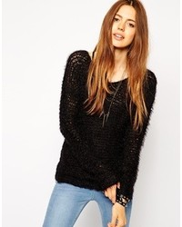Collection slouchy grunge sweater with v neck medium 123097