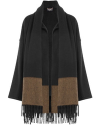 Salvatore Ferragamo Cashmere Cape With Fringed Scarf