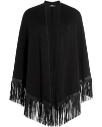 Steffen Schraut Weekend Cotton Cape With Leather Fringe
