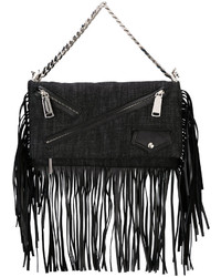 Dsquared2 Babe Wire Fringed Clutch