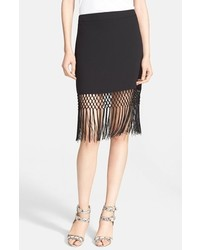 Luciana crochet fringe pencil skirt medium 321923