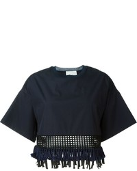 3.1 Phillip Lim Fringed Cropped Top
