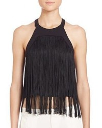 Parker Retreat Fringed Cropped Top