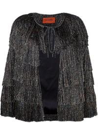 Missoni Glitter Effect Fringed Jacket