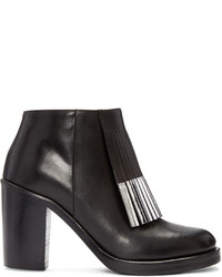 MCQ Alexander Ueen Black Wick Fringe Ankle Boots