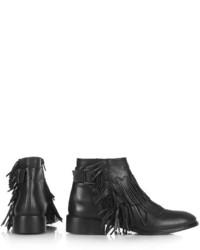 Topshop Arid Fringe Ankle Boots