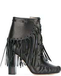 Elie Saab Fringed Ankle Boots