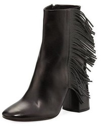 Leather bootie with monili fringe medium 4948348