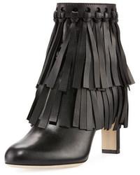 Mala leather fringe 85mm bootie medium 4471501