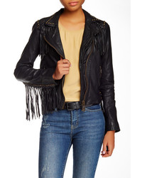 Doma Beaded Fringed Leather Jacket