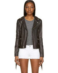 BLK DNM Black Fringed Leather Jacket