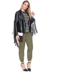 62d05e3298b ... ELOQUII Plus Size Studio Faux Leather Fringe Jacket