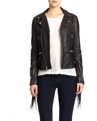BLK DNM Fringe Leather Moto Jacket