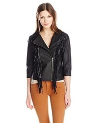 Glamorous Fringe Faux Leather Jacket
