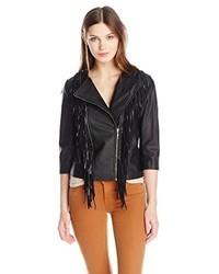 Glamorous Fringe Faux Leather Jacket