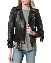 IRO Zerignola Fringe Leather Jacket