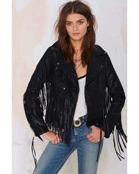 Blank NYC Let It Ride Fringe Jacket