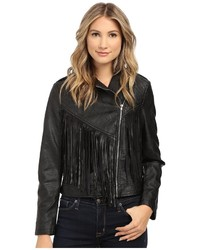 Brigitte Bailey Lev Fringe Faux Leather Jacket