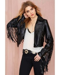 Nasty Gal Highway To Hell Fringe Jacket