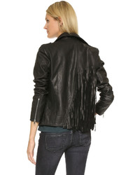 RtA Morisson Leather Fringe Jacket