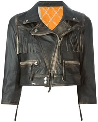 S.W.O.R.D. Sword Fringed Biker Jacket