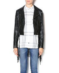 Tov Black Fringe Jacket