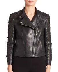 Yigal Azrouel Fringe Leather Moto Jacket