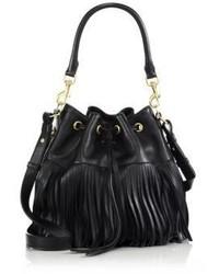 Saint Laurent Emmanuelle Medium Fringed Bucket Bag