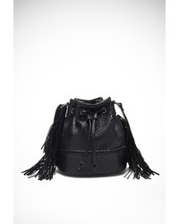 Forever 21 Fringed Faux Leather Bucket Bag
