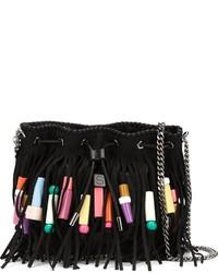 Stella McCartney Falabella Fringed Bucket Shoulder Bag