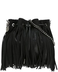 Stella mccartney falabella fringed bucket shoulder bag medium 689612