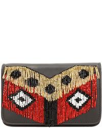 Micro janis disco fringe clutch bag black medium 525610