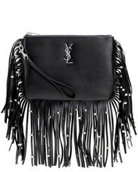 Monogram fringed leather clutch medium 6372902
