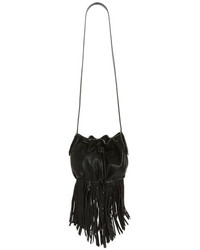 Steve Madden Bsandro Fringed Faux Leather Bucket Bag