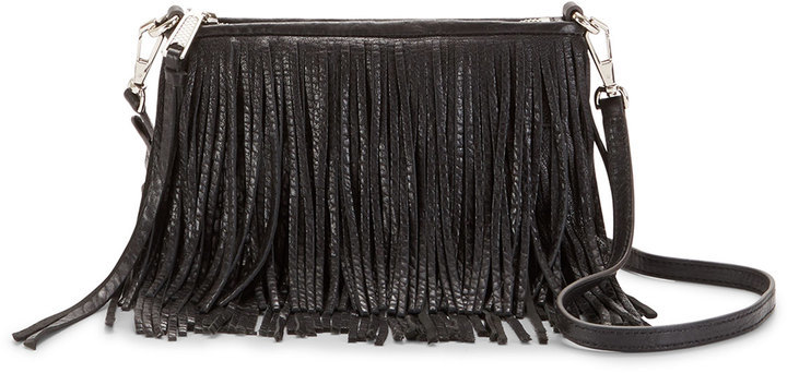 ... Rebecca Minkoff Finn Leather Fringe Crossbody Bag Black ... 522506dbe4d13