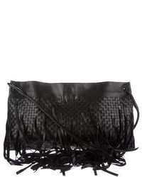 Bottega Veneta Intrecciato Fringe Foldover Crossbody Bag