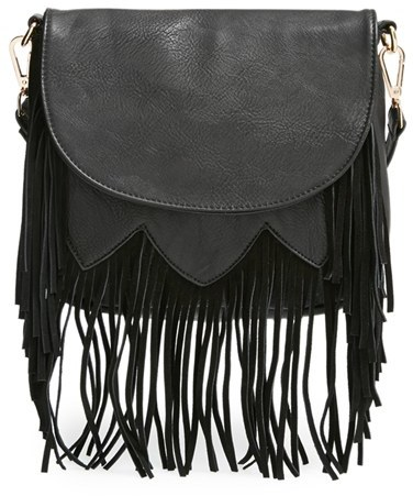37abc51d9f85 Sole Society Kerry Fringe Faux Leather Crossbody Bag