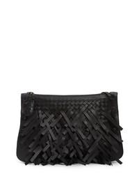Bottega Veneta Medium Intrecciato Fringe Leather Crossbody Bag