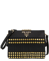 Prada Small Saffiano Fringe Crossbody Bag