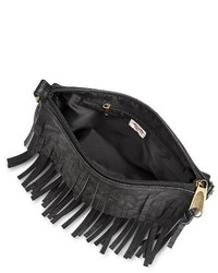 ... Mossimo Supply Co Fringe Crossbody Handbag Black ... ac2e9188047aa