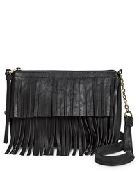 Mossimo Supply Co Fringe Crossbody Handbag Black