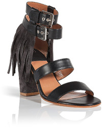 Laurence Dacade Leathersuede Sandals With Fringe