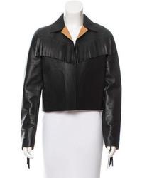 Ralph Lauren Black Label Fringe Leather Jacket W Tags