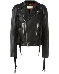 Gucci Fringed Biker Jacket