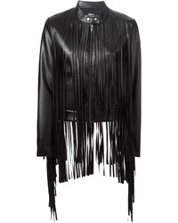 Fringed leather jacket medium 320269