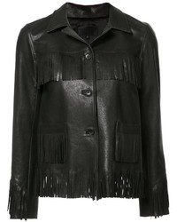 Nili Lotan Fringed Leather Jacket